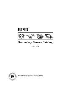 Secondary Course Catalog