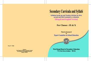 Secondary Curricula and Syllabi