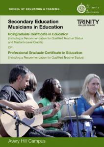 Secondary Education Musicians in Education