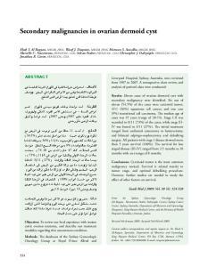 Secondary malignancies in ovarian dermoid cyst