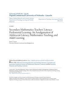 Secondary Mathematics Teachers Literacy Professional Learning: An Amalgamation of Adolescent Literacy, Mathematics Teaching, and Adult Learning