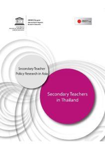 Secondary Teachers in Thailand