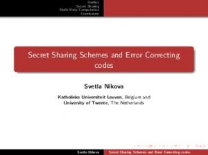 Secret Sharing Schemes and Error Correcting codes