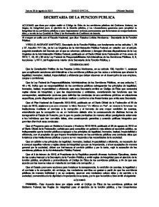 SECRETARIA DE LA FUNCION PUBLICA
