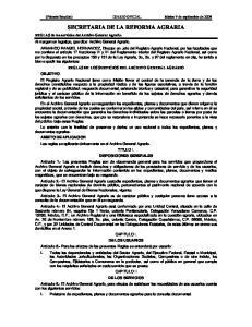 SECRETARIA DE LA REFORMA AGRARIA
