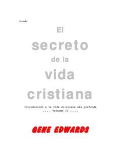 secreto vida cristiana