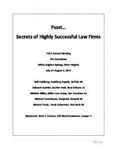 Secrets of Highly Successful Law Firms