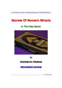 Secrets Of Numeric Miracle