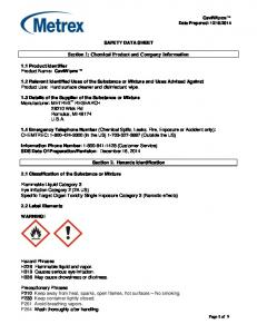 Section 1: Chemical Product and Company Information