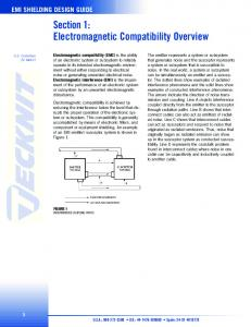 Section 1: Electromagnetic Compatibility Overview