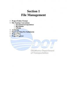 Section 1 File Management