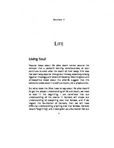 Section 1 LIFE. Living Soul