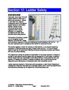 Section 12: Ladder Safety
