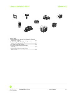 Section 13. Control Renewal Parts.  Control Catalog 13-1