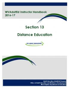 Section 13. Distance Education
