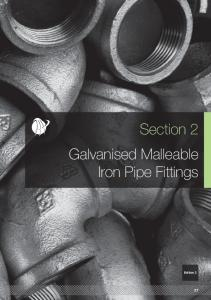 Section 2 Galvanised Malleable Iron Pipe Fittings