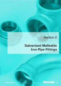 Section 2. Galvanised Malleable Iron Pipe Fittings