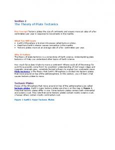 Section 2 The Theory of Plate Tectonics