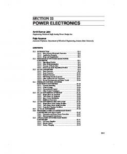 SECTION 22 POWER ELECTRONICS