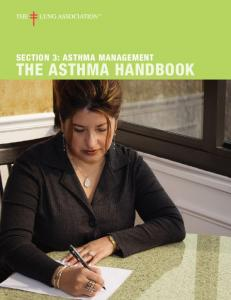 Section 3: Asthma management. THE AsthMA HANDBOOK