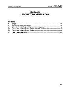 Section 3 LABORATORY VENTILATION