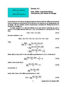 Section 3.2. f(c + h) T (c + h) = lim f(c + h) mh f(c) = lim. = lim. f(c + h) f(c)