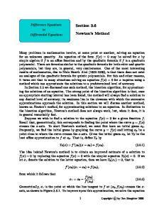 Section 3.6. Newton s Method