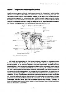 Section 4. Complex and Diverse Regional Conflicts