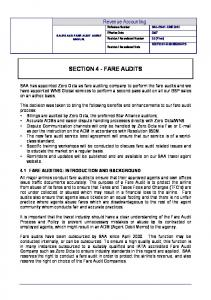 SECTION 4 - FARE AUDITS