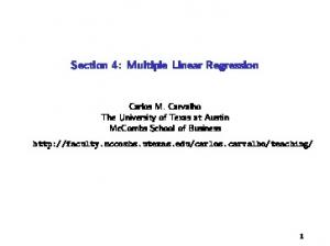 Section 4: Multiple Linear Regression