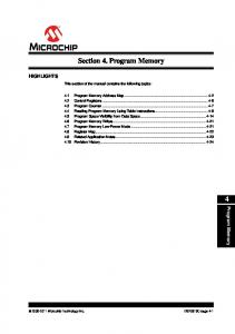 Section 4. Program Memory