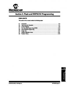 Section 5. Flash and EEPROM Programming