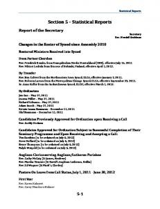 Section 5 Statistical Reports