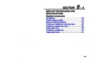 SECTION 6 4 SERVICE PROCEDURES AND SPECIFICATIONS