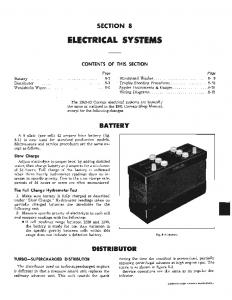 SECTION 8 ELECTRICAL SYSTEMS CONTENTS OF THIS SECTION. Page