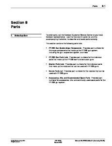 Section 8 Parts. 1. Introduction. Parts 8-1