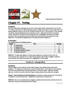 Section A. Towing Safety