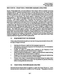 SECTION B - CHAPTER 4: PROCESS HAZARD ANALYSIS