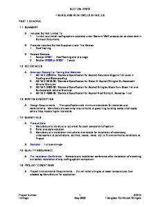 SECTION FIBERGLASS REINFORCED SHINGLES