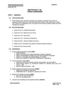 SECTION FINISH HARDWARE