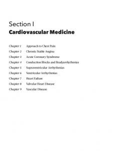 Section I. Cardiovascular Medicine