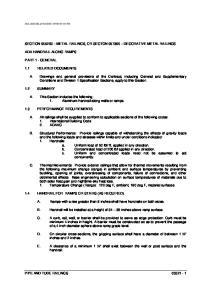 SECTION METAL RAILINGS, OR SECTON DECORATIVE METAL RAILINGS