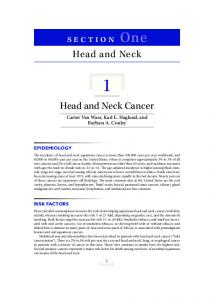 section One Head and Neck Head and Neck Cancer