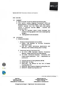 Section : Photovoltaic Collectors and Systems