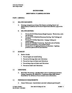 SECTION SHEET METAL FLASHING AND TRIM