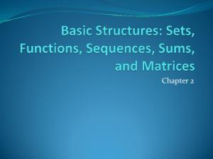 Section Summary. Definition of sets Describing Sets