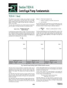 Section TECH-A Centrifugal Pump Fundamentals