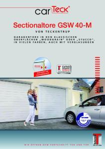 Sectionaltore GSW 40-M VON TECKENTRUP