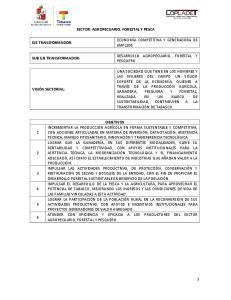 SECTOR: AGROPECUARIO, FORESTAL Y PESCA