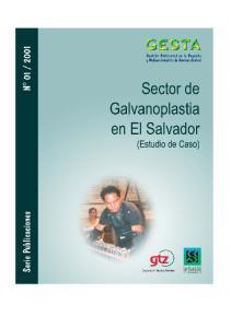 Sector de Galvanoplastia en El Salvador